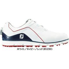 フットジョイ ゴルフシューズ PRO SL BOA スパイクレス メンズ ホワイト/ネイビー(#53290)25.0cm