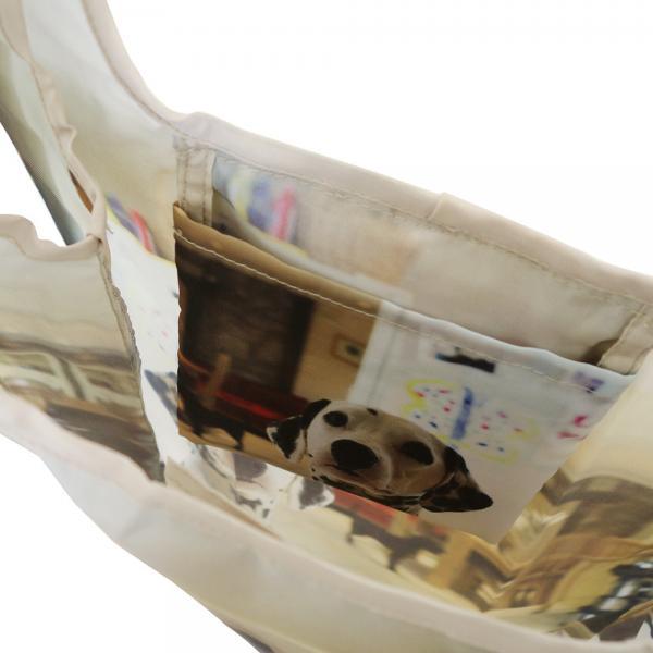 1537 ルートート(ROOTOTE)/ RT EU.ルーショッパー アニマルプリント A(03:コマンド)いぬ 犬 軽量 エコバッグ ショッピング コンパクト A4サイズ収納 トートバッグ ルートート