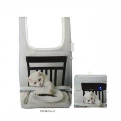 1538 ルートート(ROOTOTE)/ RT EU.ルーショッパーミニ アニマルプリント A(01:フェット)ねこ 猫 軽量 エコバッグ ショッピング コンパクト トートバッグ ルートート