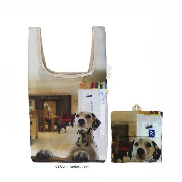1538 ルートート(ROOTOTE)/ RT EU.ルーショッパーミニ アニマルプリント A(03:コマンド)いぬ 犬 軽量 エコバッグ ショッピング コンパクト トートバッグ ルートート