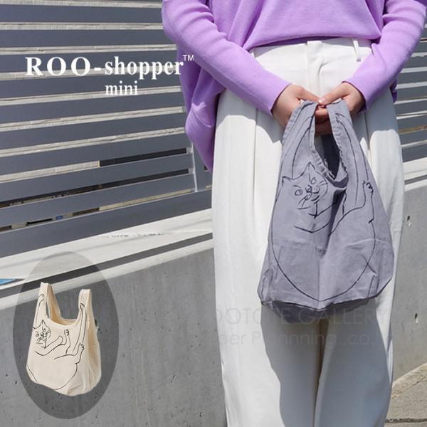2274 ルートート(ROOTOTE)/ EU.ルーショッパーミニ.マルシェ-A(05:オリーブ)ねこ アニマル コンパクト エコバッグ ショッピング トートバッグ ルートート