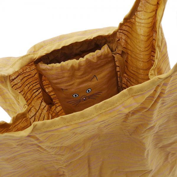 3429 ルートート(ROOTOTE)/ EU.ルーショッパー.ポータブル ネコ(03:トラ)軽量 エコバッグ お買い物バッグ コンパクト ネコ ねこ 猫 トートバッグ ルートート