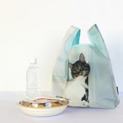 6756 ルートート(ROOTOTE)/ ルーショッパーMID-Lifty-フォト-B(01:ピープ)洗濯可能 清潔 エコバッグ お買い物バッグ コンパクト コンビニ ネコ 猫 トートバッグ レディース メンズ ルートート