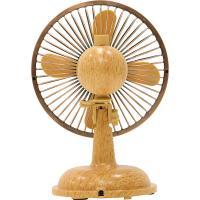 卓上木目調扇風機ACアダプター付き ライトウッド