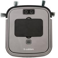 超薄型床用ロボット掃除機 シルバーメタリック SCC-R01S エスキュービズム