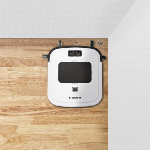 超薄型床用ロボット掃除機 ホワイト SCC-R01W エスキュービズム
