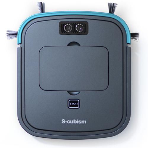 【送料無料】超薄型床用ロボット掃除機 ガンメタリック/ブルーメタリック SCC-R05GM エスキュービズム mothersday2018