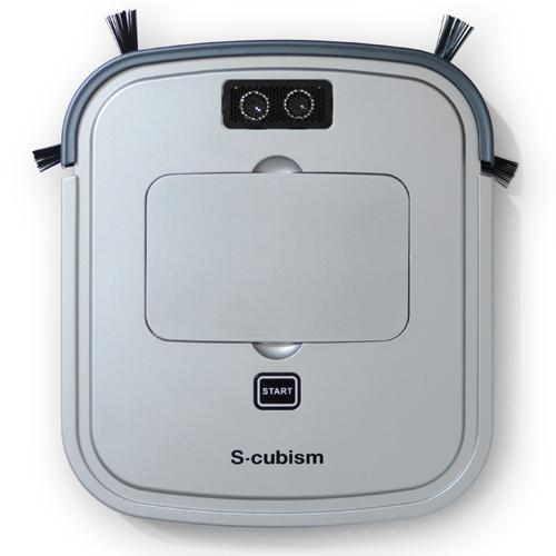 超薄型床用ロボット掃除機 シルバーメタリック/ガンメタリック SCC-R05SM エスキュービズム