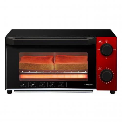 【送料無料】オーブントースター 800W ホワイト SCO-G07W エスキュービズム