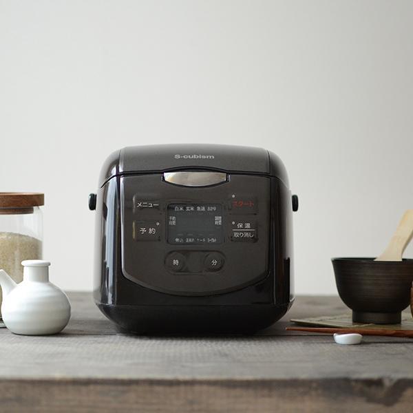 炊飯器 4合 ブラック SCR-H40B エスキュービズム