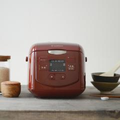 炊飯器 4合 レッド SCR-H40R エスキュービズム