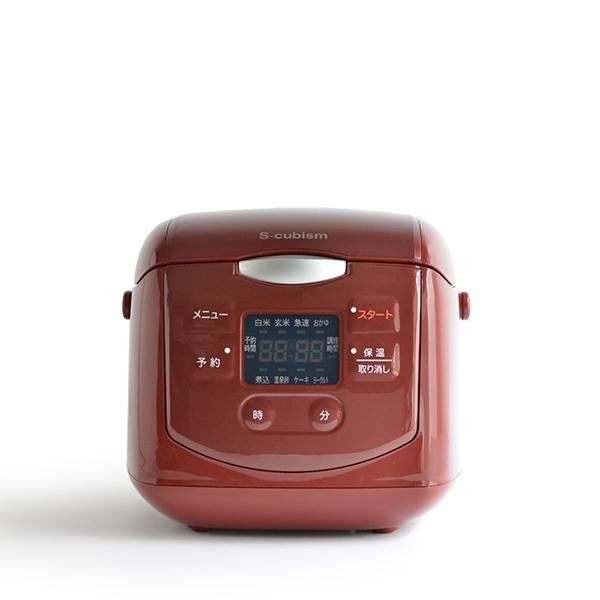 【送料無料】炊飯器 4合 ブラック SCR-H40B エスキュービズム