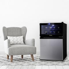 ワイン クーラー 冷蔵庫一体型 SCW-208S エスキュービズム