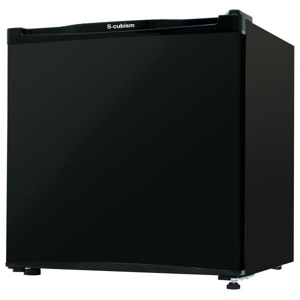 【送料無料】冷蔵庫 1ドア 46L ブラック WR-1046BK エスキュービズム