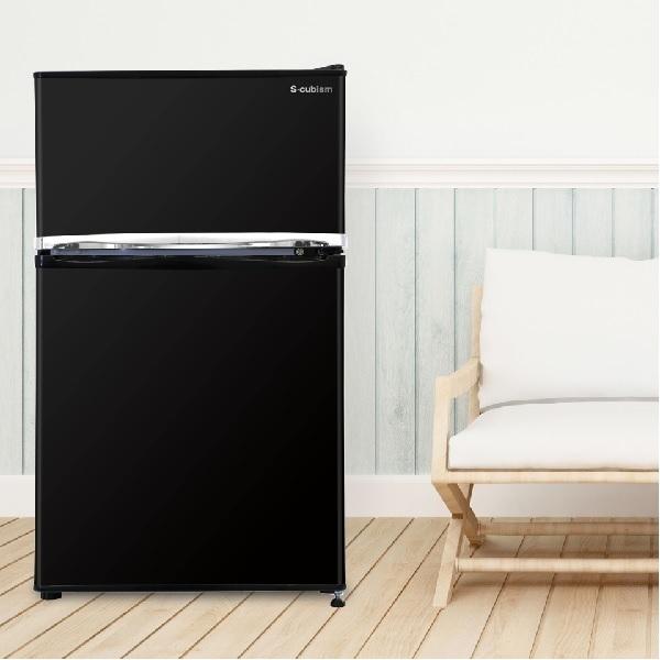 【送料無料】冷蔵庫 2ドア 90L ブラック WR-2090BK エスキュービズム