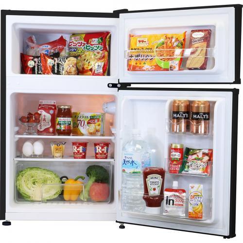 冷蔵庫 2ドア 90L ホワイト WR-2090  エスキュービズム