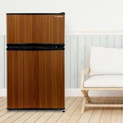 冷蔵庫 2ドア 90L ダークウッド WR-2090WD エスキュービズム