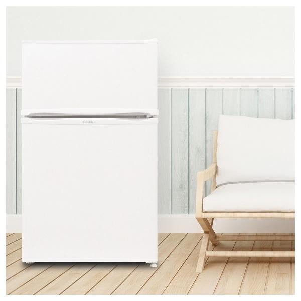 【送料無料】冷蔵庫 2ドア 90L ホワイト WR-2090  エスキュービズム