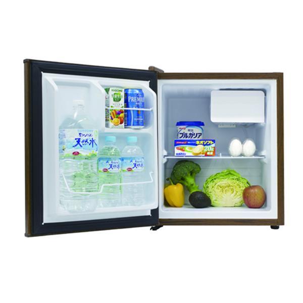 【送料無料】冷蔵庫 1ドア インテリア冷蔵庫 49L ダークウッド