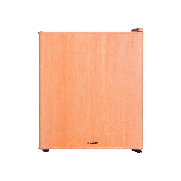 冷蔵庫 1ドア インテリア冷蔵庫 49L ダークウッド