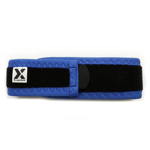 エックスユナイテッド(X-united) ラップタイプ 膝ベルト ブルー 842XUD2786-BLU(Men's、Lady's)