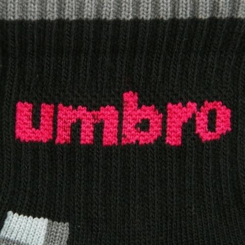 アンブロ(UMBRO) ゼビオ限定 デザインソックス 23~25cm 3足組 UCS8441X CBLK25(Lady's)