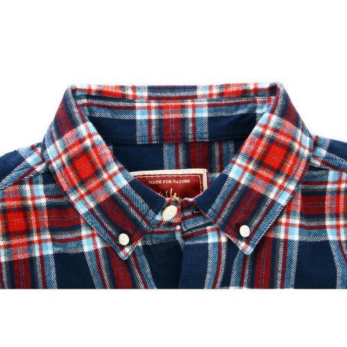 エルケクス(ELKEX) フランネル チェックシャツ 863EK5CG5920 NVRE(Men's)