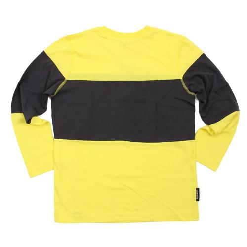 アディダス(adidas) TCOS スポーツ クライマライト フレームビッグロゴ コットングラフィックロングTシャツ AC6774-BBQ54YEL **(Jr)
