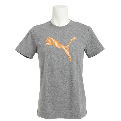 プーマ(PUMA) ゼビオ限定 Cat Logo Tシャツ 591734 01 GRY(Men's)