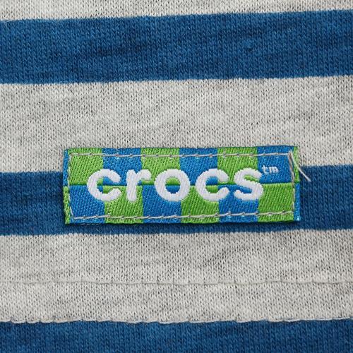クロックス(crocs) 【オンラインストア限定SALE!】 ボーダーTシャツ cr116377BL16S(Jr)