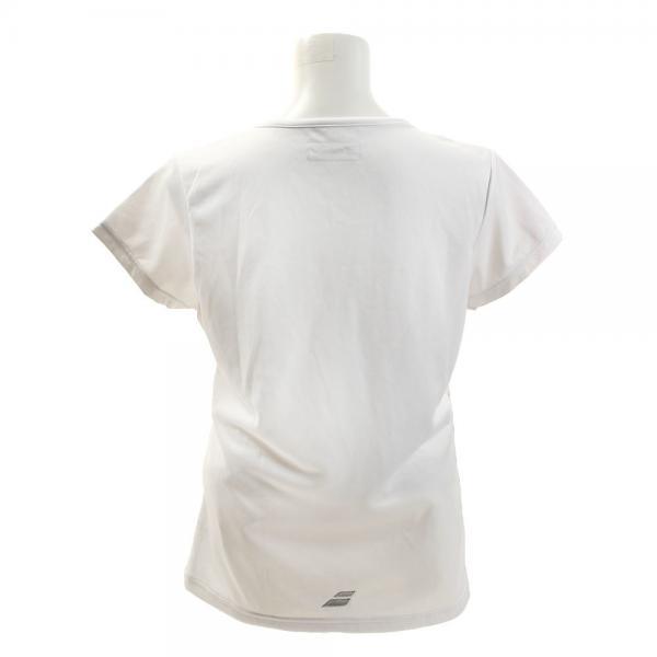 バボラ(BABOLAT) ショートスリーブシャツ BAB-1648W WH(Lady's)