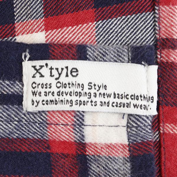 エックスタイル(Xtyle) ヒートクロス チェックロングスリーブ ネルシャツ 871C6TH8120REWH(Men's)
