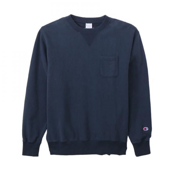 チャンピオン-ヘリテイジ(CHAMPION-HERITAGE) ポケット付き クルーネックスウェットシャツ C3-J031 370(Men's)