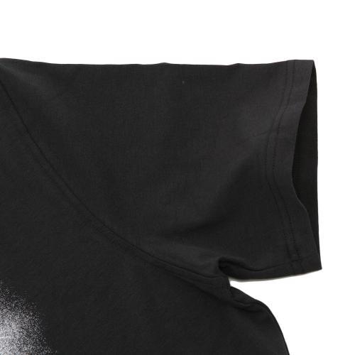 アンダーアーマー(UNDER ARMOUR) チャージドコットン オーバースプレーロゴ Tシャツ #1289894 BLK/WHT AT(Men's)