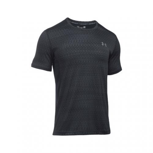 アンダーアーマー(UNDER ARMOUR) ヒットジャカードショートスリーブTシャツ #1294215 BLK/GPH/GPH AT(Men's)
