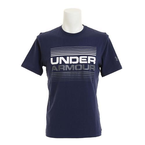 アンダーアーマー(UNDER ARMOUR) チャージドコットン LINE UP 半袖Tシャツ #1300347 MDN/WHT/GPH AT(Men's)