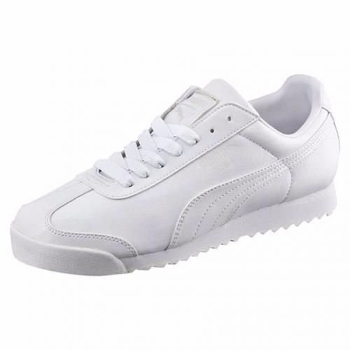 Mens White Puma Roma Basic Running Shoes checkout.clickpesa.com