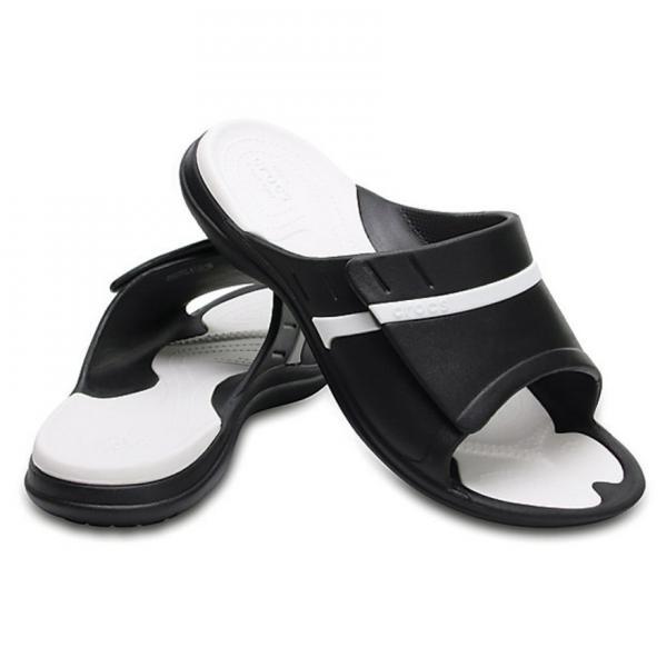 クロックス(crocs) モディ スポーツ スライド MODI SPORT SLIDE BLACK/WHITE メンズ サンダル 204144-066(Men's)