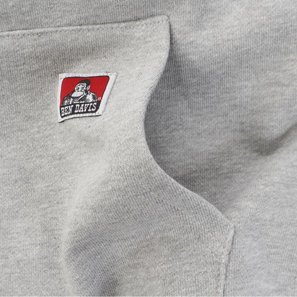 BEN DAVIS ロゴ EMB フル ジップ フーディー 7380402-GRY(Men's)