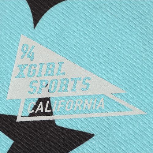 エックスガールスポーツ(X-girl SPORTS) SHINING STARS 長袖Tシャツ 05167106-Lt BLUE(Lady's)
