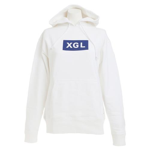 エックスガールスポーツ(X-girl SPORTS) プルオーバー フーディ XGL 05167206-WHITE(Lady's)