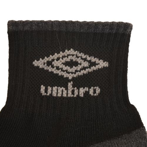 アンブロ(UMBRO) デザインショートソックス 3足組 25.0cm~27.0cm UCS8441 BLK27(Men's)