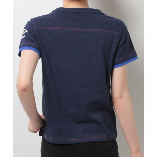 アンブロ(UMBRO) ウィメンズ コットンショートスリーブシャツ UCS5742W NVY(Lady's)