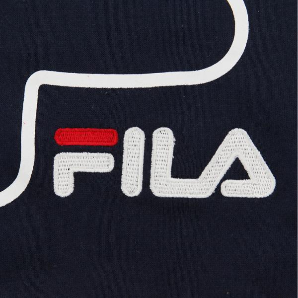 フィラ(FILA) ガールズ VネックスウェットNV XJ4601 NVY(Jr)