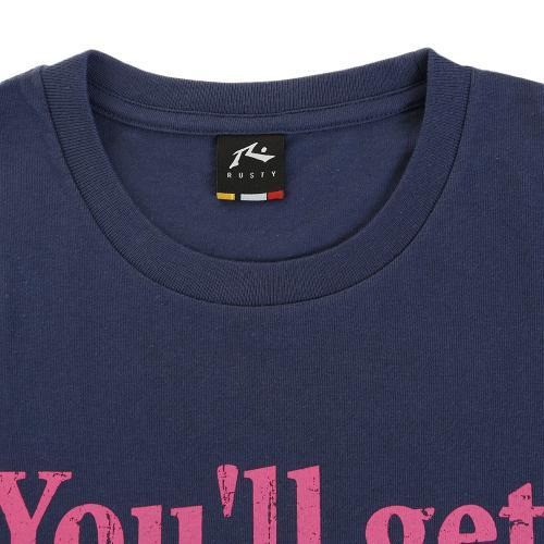 ラスティ メッセージプリントTシャツ 916253 D NVY(Men's)