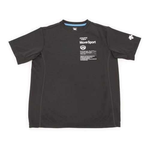 デサント(DESCENTE) 【多少の汚れ等訳あり大奉仕】サンスクリーン 片胸半袖シャツ DAT-5701J BLK(Jr)