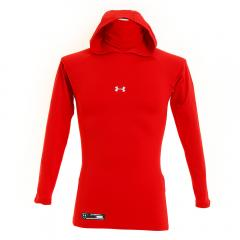 アンダーアーマー(UNDER ARMOUR) コールドギア ARMOUR FITTED HOODY #1305615 RED BB(Men's)