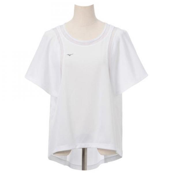 ミズノ(MIZUNO) レディース プラスミー 半袖メッシュ切替Tシャツ D2MA720301(Lady's)