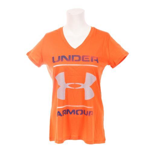 アンダーアーマー(UNDER ARMOUR) Fav Vネック半袖Tシャツ BIG LOGO WTR2460 BOR(Lady's)