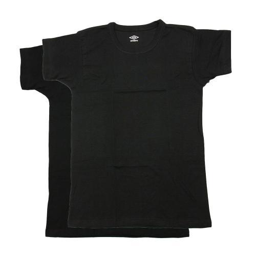アンブロ(UMBRO) ジュニア Tシャツ 2枚組 UB1670F BLK(Jr)